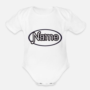 Name NAME - Organic Short-Sleeved Baby Bodysuit