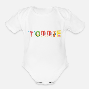 Tommy Tommie - Organic Short-Sleeved Baby Bodysuit