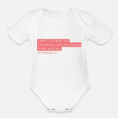 Us This is us - Organic Short Sleeve Baby Bodysuit