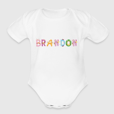 Brandon - Organic Short Sleeve Baby Bodysuit