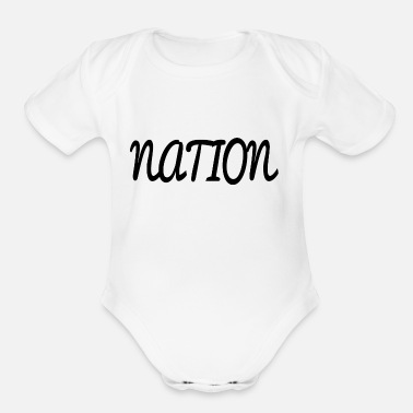 National NATION - Organic Short-Sleeved Baby Bodysuit