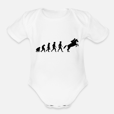 Equitation Evolution Horses Riding Harness Racing Equitation - Organic Short-Sleeved Baby Bodysuit