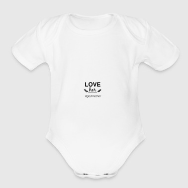 godmother tshirt - Organic Short Sleeve Baby Bodysuit