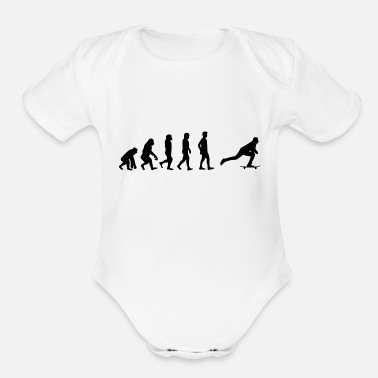 Boarders boarder - Organic Short-Sleeved Baby Bodysuit