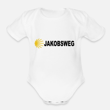 The Way Of St James Hiking pilgrim route Santiago de Compostela - Organic Short Sleeve Baby Bodysuit