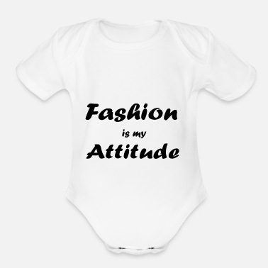 Fashion fashion - Organic Short-Sleeved Baby Bodysuit