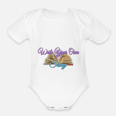 Name Write Your Own Story - Organic Short-Sleeved Baby Bodysuit