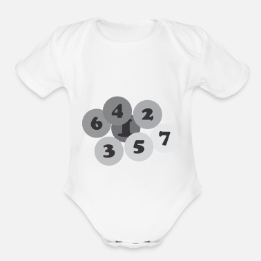 Number Number - Organic Short-Sleeved Baby Bodysuit