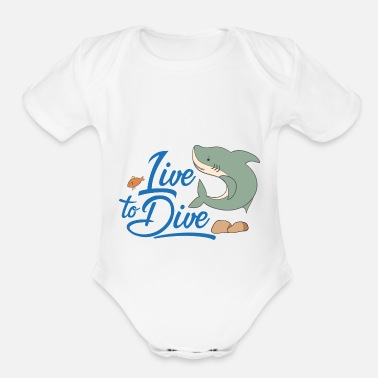 Scuba Diving dive - Organic Short Sleeve Baby Bodysuit