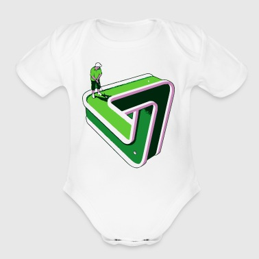 Puzzled Putter - Organic Short Sleeve Baby Bodysuit
