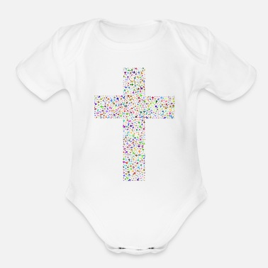 Cross Cross of Crosses - Organic Short Sleeve Baby Bodysuit