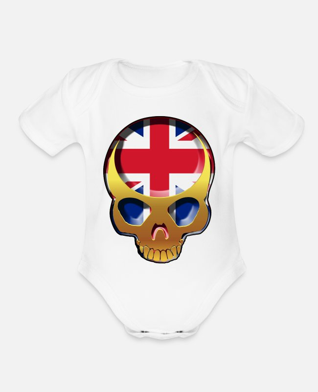 Royal Baby One Pieces - England Forever - Organic Short-Sleeved Baby Bodysuit white