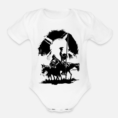 Don Quixote and Sancho Panza - Organic Short-Sleeved Baby Bodysuit