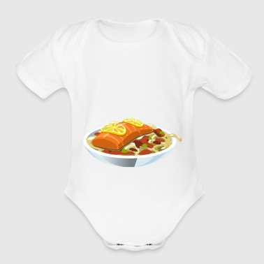 food - Organic Short Sleeve Baby Bodysuit