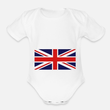 Union Jack Bremojis union jack - Organic Short-Sleeved Baby Bodysuit