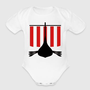 Viking Viking Ship - Organic Short Sleeve Baby Bodysuit
