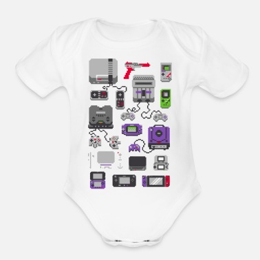 Childhood A Pixel of My Childhood - Organic Short Sleeve Baby Bodysuit