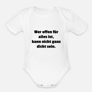 Opened open - Organic Short-Sleeved Baby Bodysuit