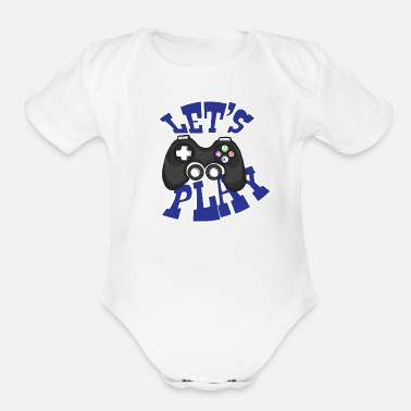 Game Over Game Play Gift Idea - Organic Short Sleeve Baby Bodysuit