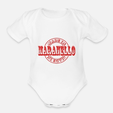 Stamp made in maranello m1 - Organic Short Sleeve Baby Bodysuit