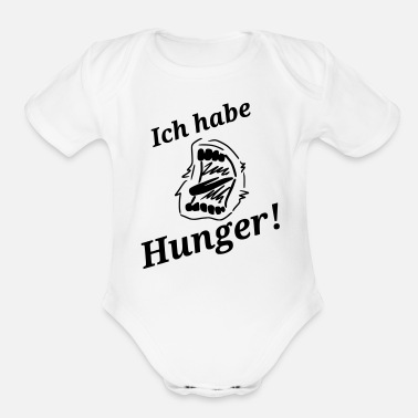 Hunger Spruch Hunger - Organic Short-Sleeved Baby Bodysuit