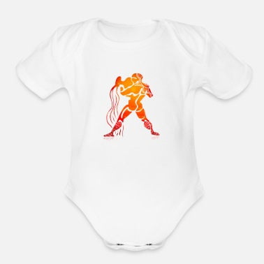 King Aquarius Aquarius King - Organic Short-Sleeved Baby Bodysuit