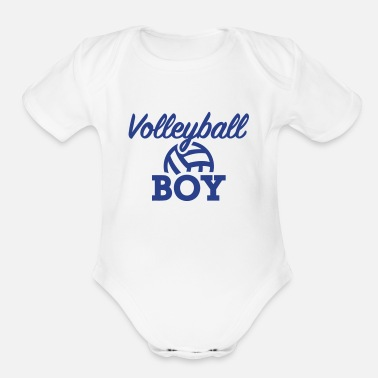 Beach Volleyball Volleyball - Organic Short Sleeve Baby Bodysuit