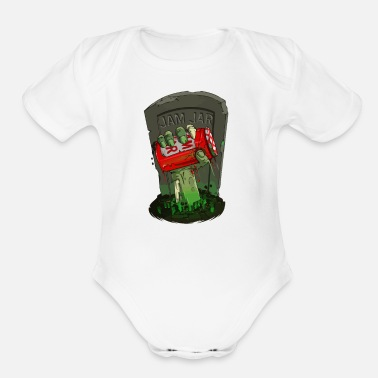 From From the grave - Organic Short-Sleeved Baby Bodysuit