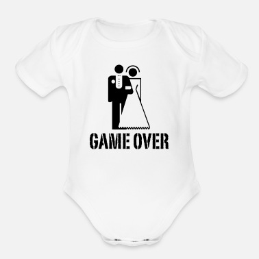 Bride And Groom Game Over Bride Groom - Organic Short-Sleeved Baby Bodysuit