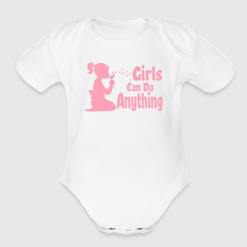 Girls Can Do Anything - Organic Short Sleeve Baby Bodysuit