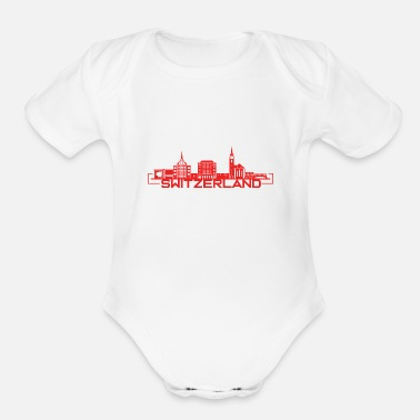 Switzerland Switzerland - Organic Short Sleeve Baby Bodysuit