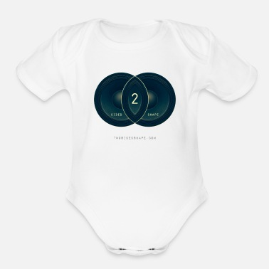 Two Sides TWO SIDED SHAPE : LOGO 1 - Organic Short-Sleeved Baby Bodysuit