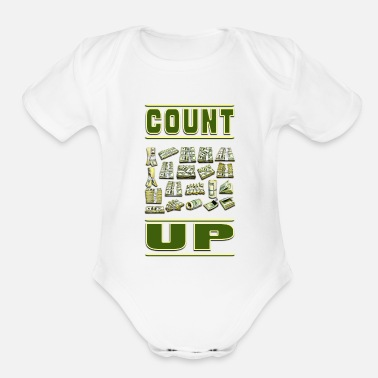 Count Royal Count Up - Organic Short Sleeve Baby Bodysuit