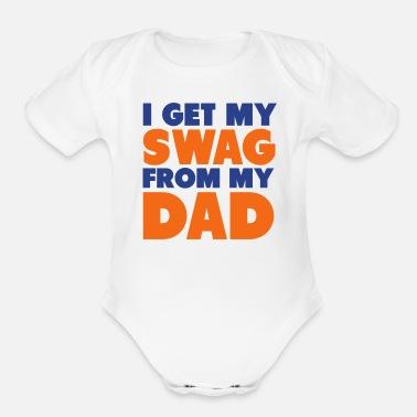43ee07e0ce4 I Get My Swag From My Dad Shirt Kids  T-Shirt