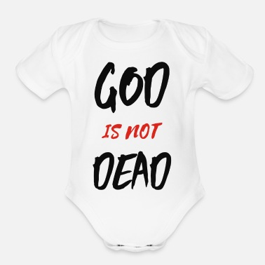 Grateful Dead God Is Not Dead - Organic Short Sleeve Baby Bodysuit