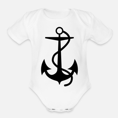 Anchors Anchor - Organic Short-Sleeved Baby Bodysuit