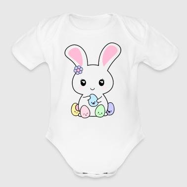 Shop kawaii easter gifts online spreadshirt kawaii easter bunny organic short sleeve baby bodysuit negle Choice Image