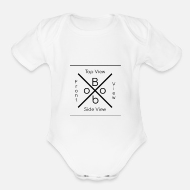 View boob perfect word top view side view front view - Organic Short Sleeve Baby Bodysuit