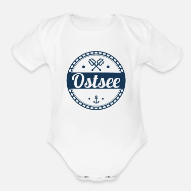 Baltic Sea Baltic Sea,sea,baltic,island,holiday,summer,beach - Organic Short-Sleeved Baby Bodysuit