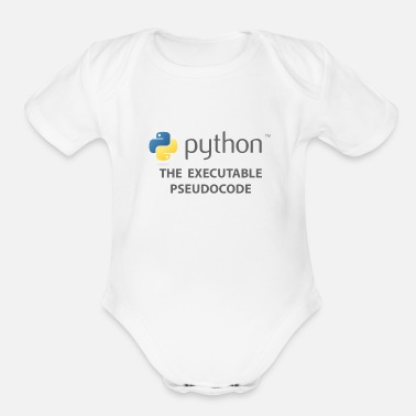 Python - The Executable Pseudcode - Organic Short-Sleeved Baby Bodysuit