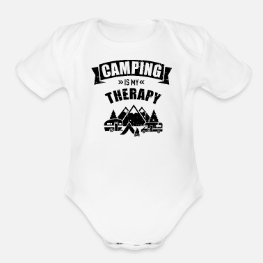 Mountains Camping - Organic Short-Sleeved Baby Bodysuit