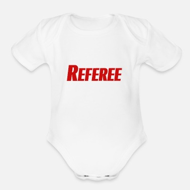 Referee referee - Organic Short Sleeve Baby Bodysuit