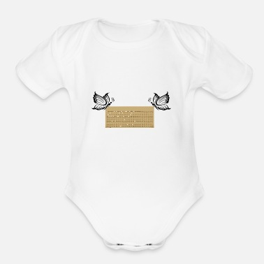 Punch punched card3 - Organic Short Sleeve Baby Bodysuit