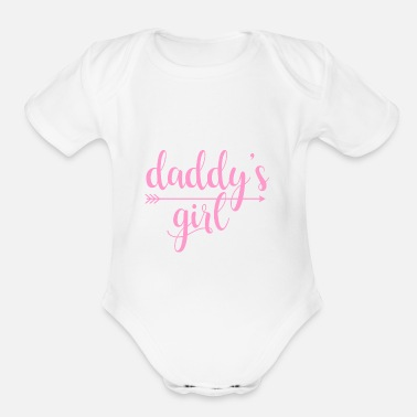 Girl daddy's girl - Organic Short Sleeve Baby Bodysuit