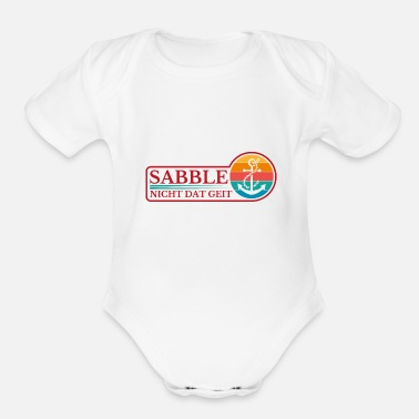 Anchors Don't sabotage north northern Germany - Organic Short-Sleeved Baby Bodysuit