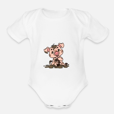 Sow Dirty sow - Organic Short Sleeve Baby Bodysuit