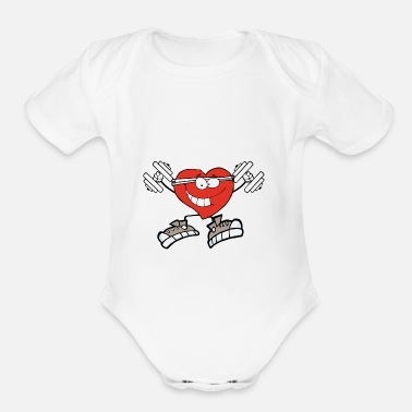 Exercise exercise heart - Organic Short-Sleeved Baby Bodysuit