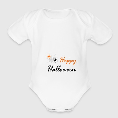 spider and web - Organic Short Sleeve Baby Bodysuit