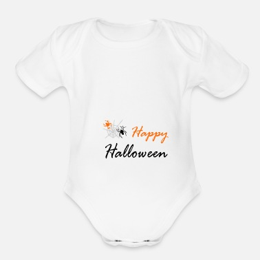 Web spider and web - Organic Short Sleeve Baby Bodysuit