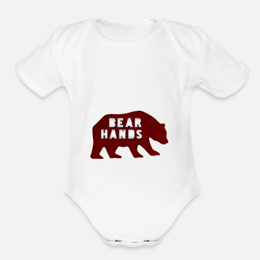 Bear Hands - Organic Short-Sleeved Baby Bodysuit